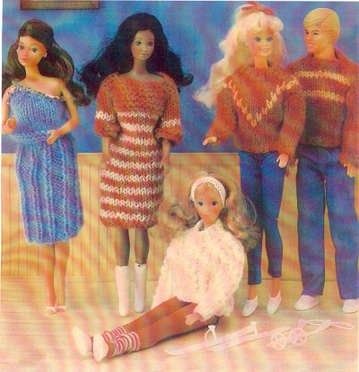 Free Knitting Patterns For Action Man Dolls : KNITTED PATTERNS FOR BARBIE 1000 Free Patterns