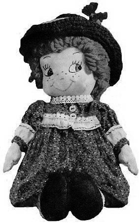 Doll with Crocheted Hat