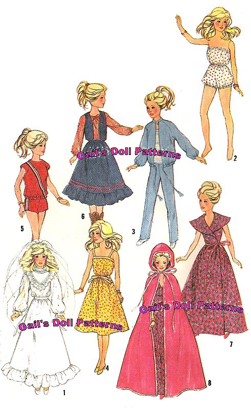 PatternsBarbie Delectable Barbie Doll Patterns