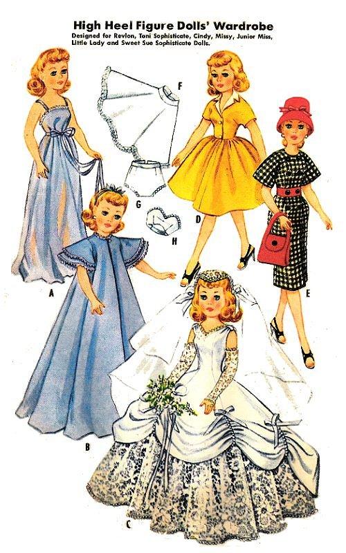 "Dollikin Toni Vintage 14/"" 15/"" Doll Clothes Pattern ~ Miss Revlon Sweet Sue"