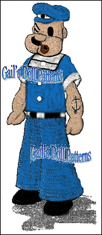 Crochet Pattern Popeye Doll : Patterns_Knitted