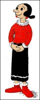 Crocheted Olive Oyl