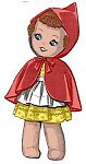 Red Riding Hood Sock Doll