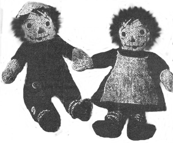 Knitted Ann & Andy